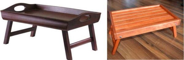 Поднос с ножками - еще одно название сервировочного кроватного столик