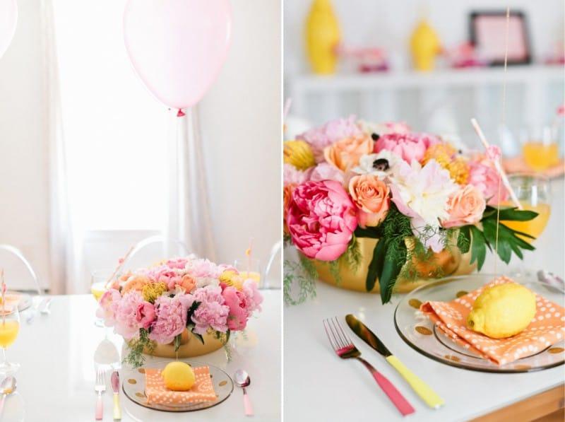 Декор лимонами и шариками
