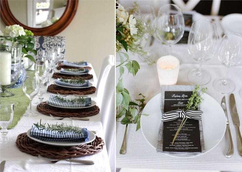 Декор салфеток зеленью