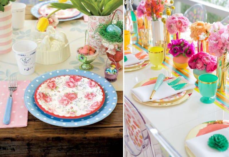 Сервировка стола одноразовой посудой