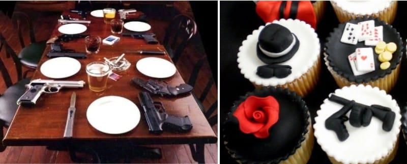 Сервировка стола в стиле итальянской мафии