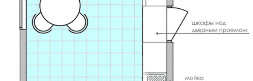 Дизайн кухни 9 кв