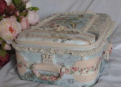 Декупаж старого чемодана