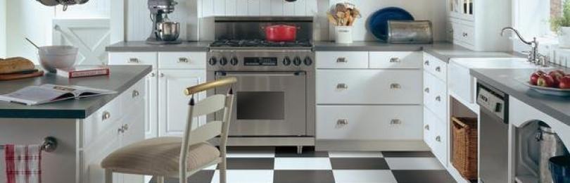 Плитка для кухни на пол —  правила выбора