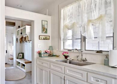 Тюль на кухню: плюсы и минусы, виды, реальные фото примеры дизайна