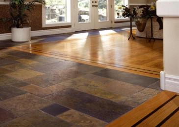 Стык ламината и плитки: варианты исполнения и особенности работ