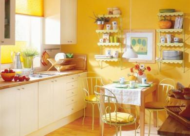 Как грамотно подобрать цвет обоев для кухни