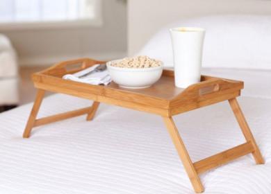 Столик для завтрака в постель своими руками: чертежи и схемы