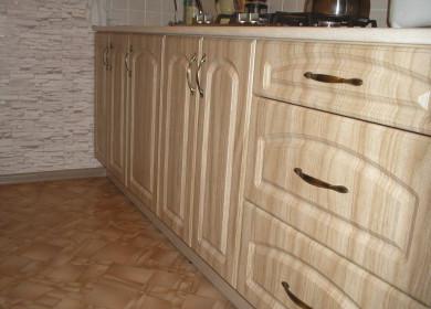Кухни из шпона: виды кухонных фасадов из шпона