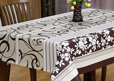 Скатерть на стол для кухни:  как выбрать, размер и формы