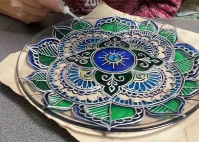 Роспись тарелок и посуды своими руками: техники и инструкции