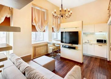 Дизайн кухни гостиной 25 кв