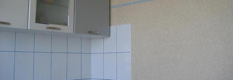 Жидкие обои на кухне: +45 фото в интерьере, нанесение жидких обоев своими руками