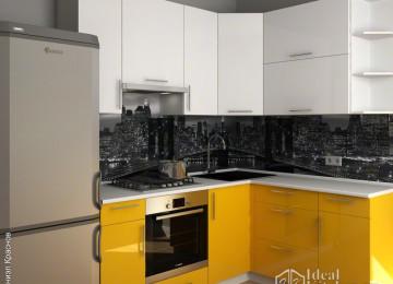 Желтая кухня с черной столешницей в интерьере: дизайн и сочетания цветов