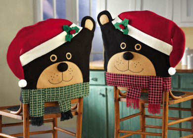 Как легко сшить новогодние чехлы на стулья