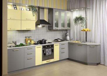 Крашеные фасады для кухни: виды, технология, правила выбора