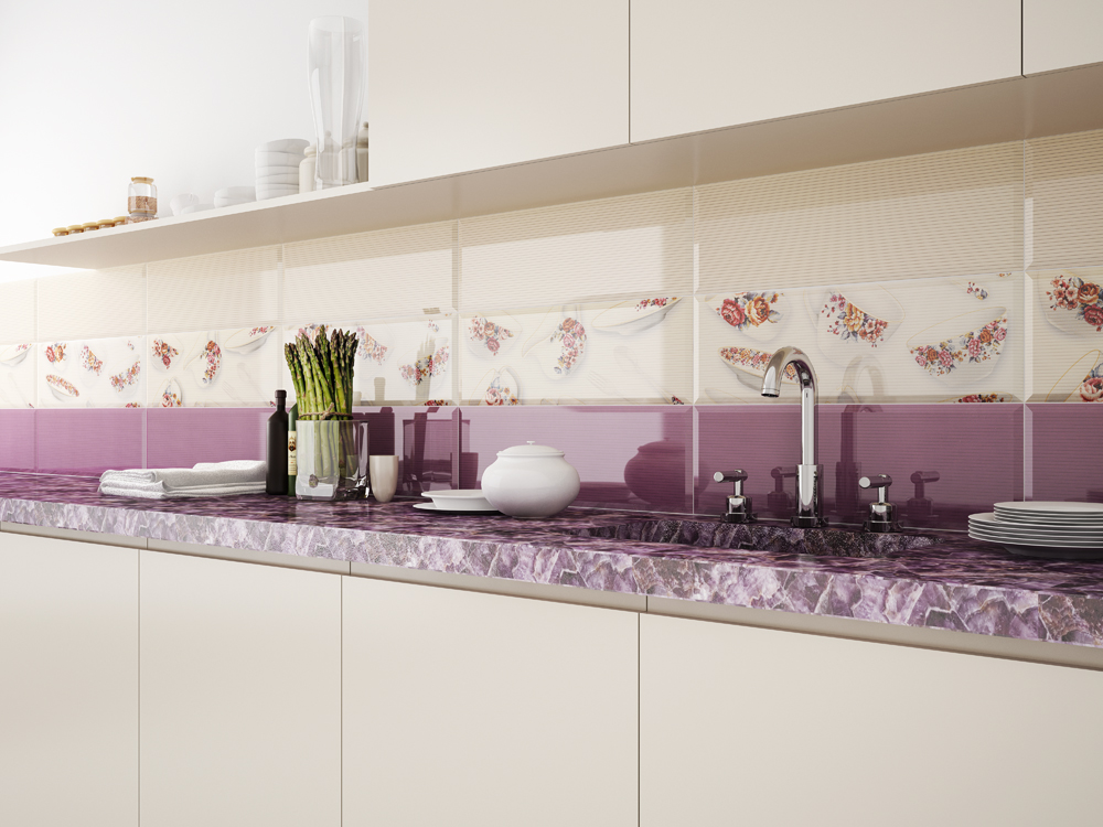 Дизайн плитки для фартука на кухне