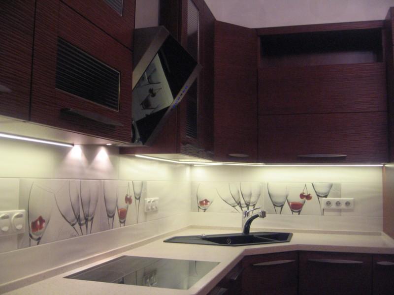 Светодиодная подсветка для кухни своими руками фото