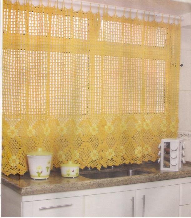 вязаные шторы для кухни когда рукам не лежится на месте